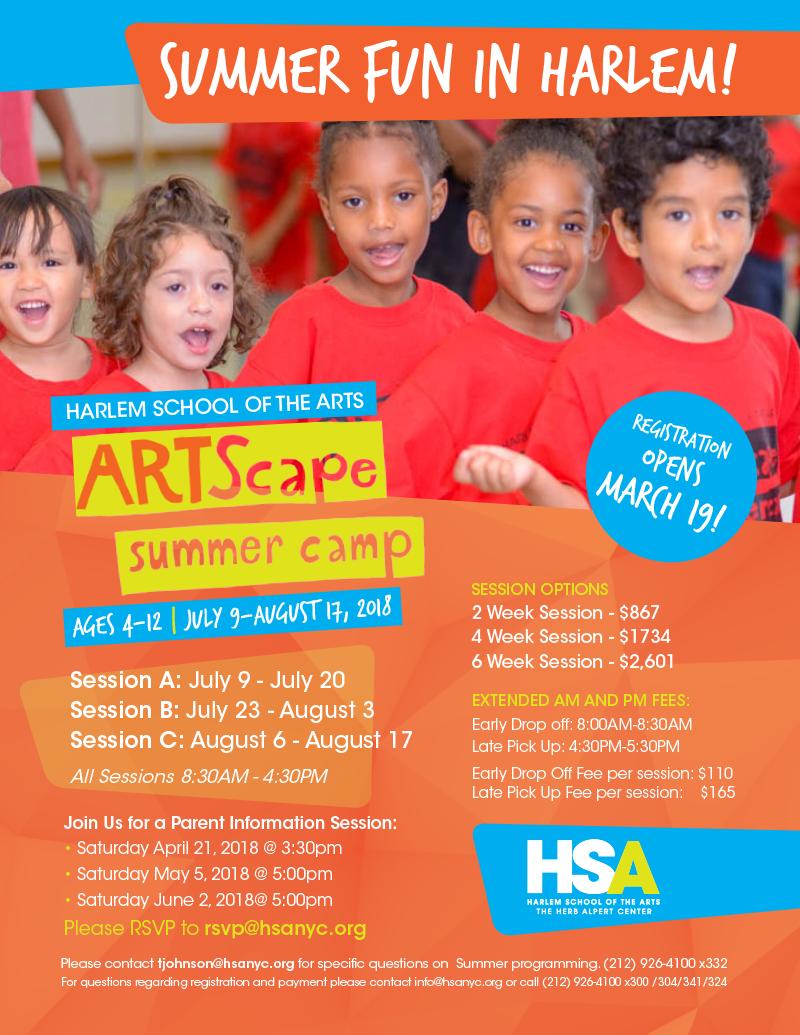 f2906d433 HSA ARTScape Summer Camp - Harlem School of the Arts