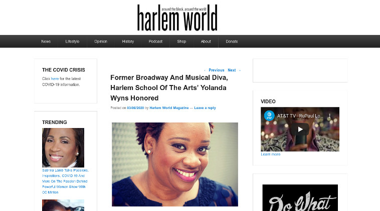 HARLEM SCHOOL OF THE ARTS YOLANDA WYNS HONORED AT AMERICAN COMPOSERS ORCHESTRA 2020 GALA